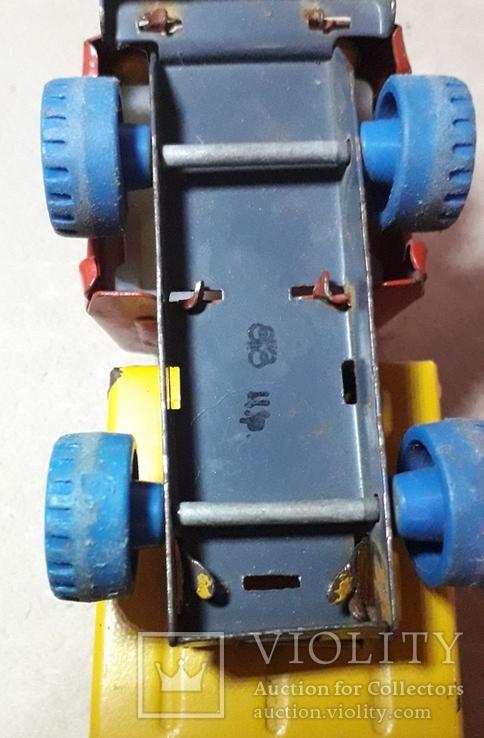 Винтажная железная машинка длина 9 см. Грузовичок СССР 60-70-е годы, фото №7