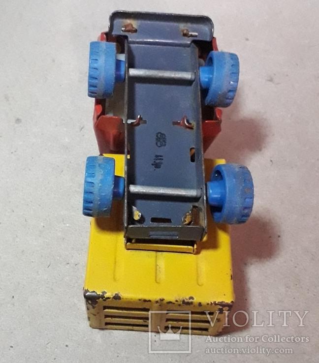 Винтажная железная машинка длина 9 см. Грузовичок СССР 60-70-е годы, фото №8