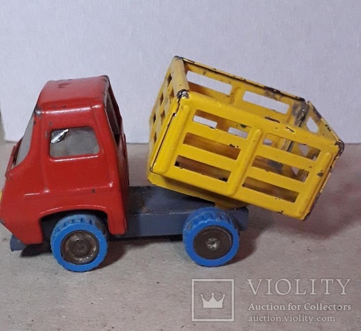 Винтажная железная машинка длина 9 см. Грузовичок СССР 60-70-е годы, фото №2