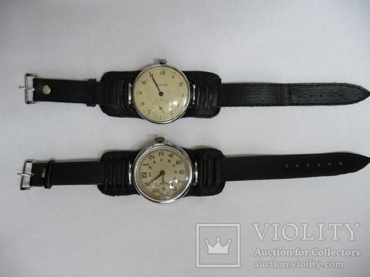 Под часы большого калибра кожанный ремешок 18 мм, фото №4