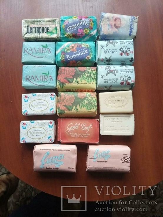 Мыло разное новое 17 кусочков, фото №2