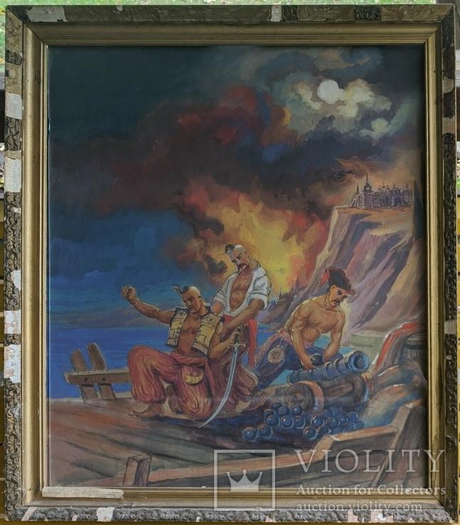 "Картина ""Оборона Бучі"" засл.худ.Украины Анищенко Н.Ф., фото №2"