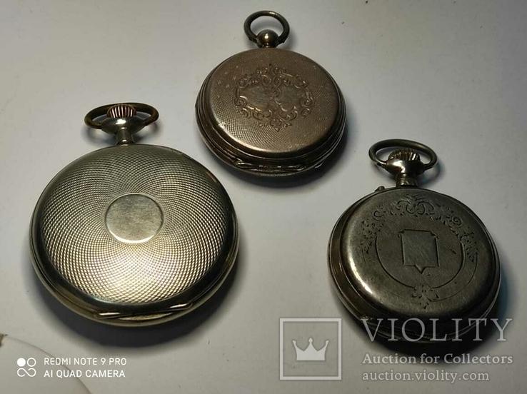 Лот карманных часов,серебро,метал, фото №3