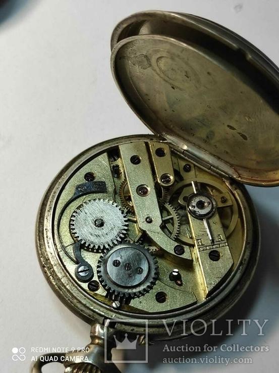 Лот карманных часов,серебро,метал, фото №8