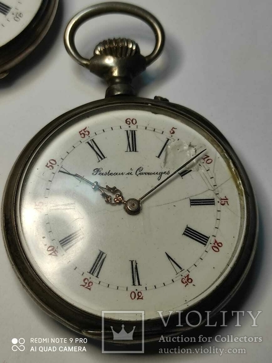 Лот карманных часов,серебро,метал, фото №9