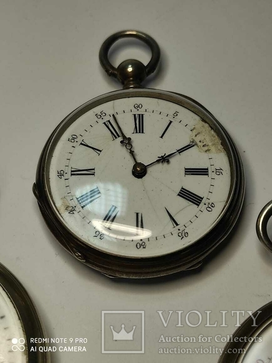 Лот карманных часов,серебро,метал, фото №12