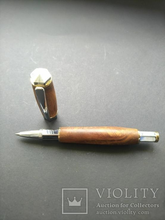 Ручка роллер ручной работы Вертекс Красный, фото №2