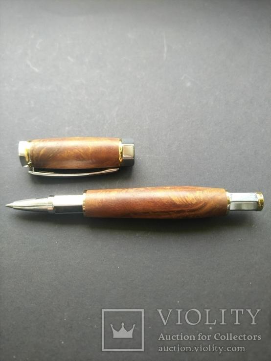 Ручка роллер ручной работы Вертекс Красный, фото №3