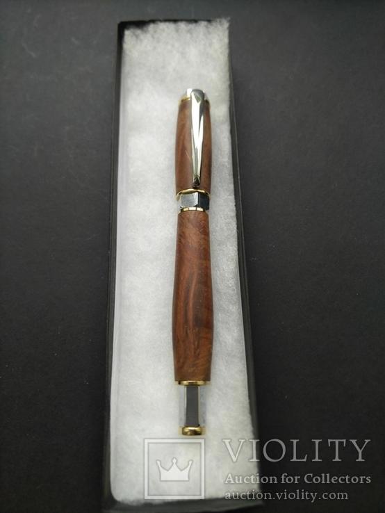 Ручка роллер ручной работы Вертекс Красный, фото №6