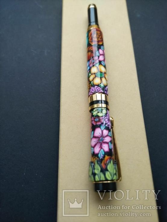 Ручка перьевая ручной работы Цветочная, фото №6