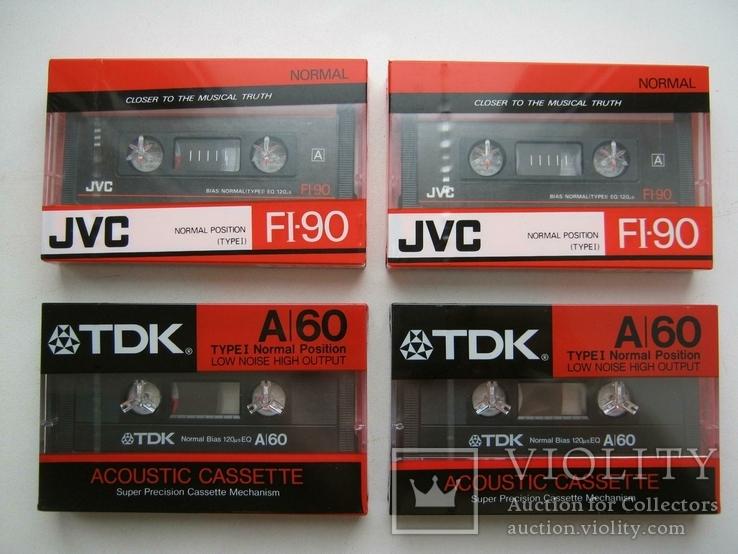 TDK A-60 и JVC FI-90 (4 аудиокассеты), фото №2