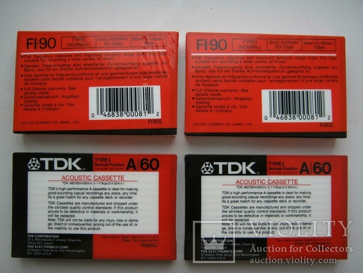 TDK A-60 и JVC FI-90 (4 аудиокассеты), фото №3