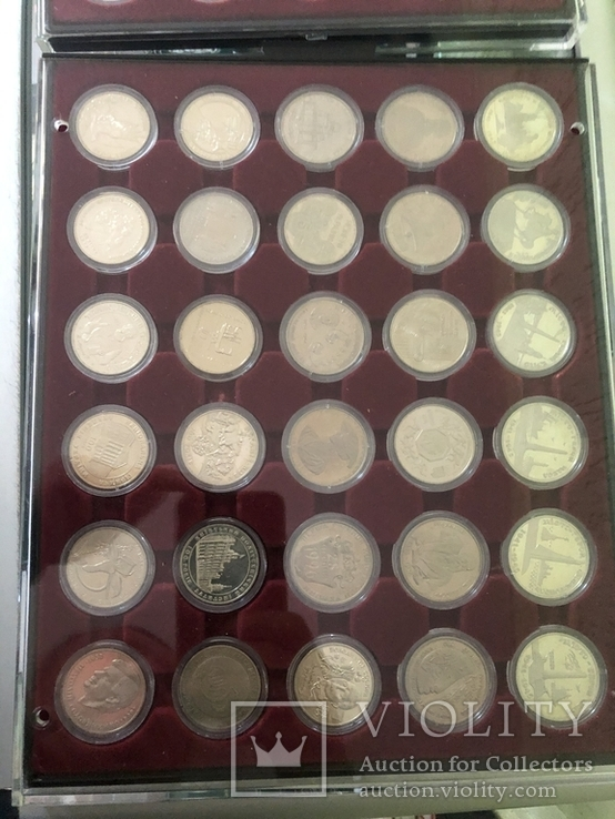 Полная коллекция монет Украины номиналом 2 и 5 грн из обычного металла (1995-2016)