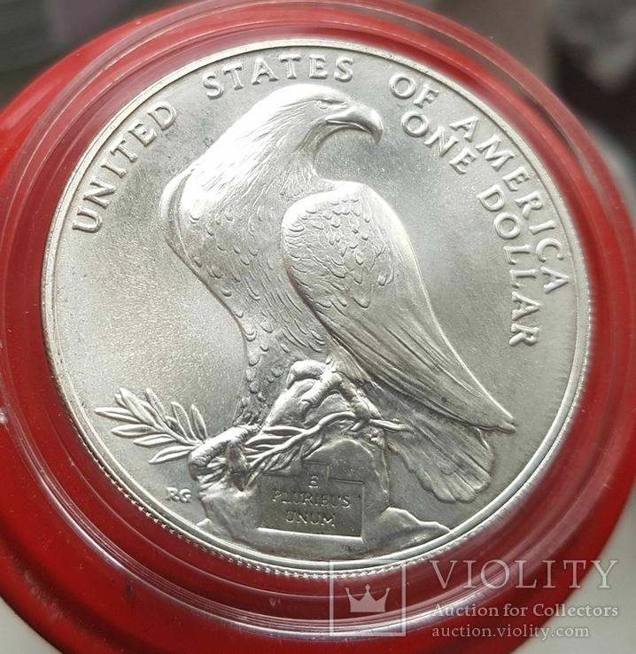 США 1 доллар 1984 г. XXIII Летние Олимпийские игры 1984 года в Лос-Анжелесе. Серебро, фото №3