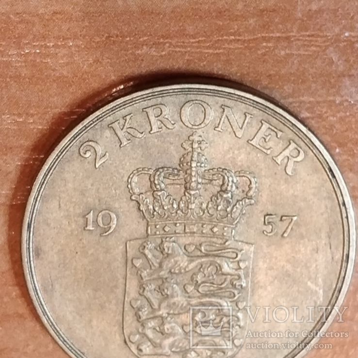 Дания 5 крон 1957 г., фото №3