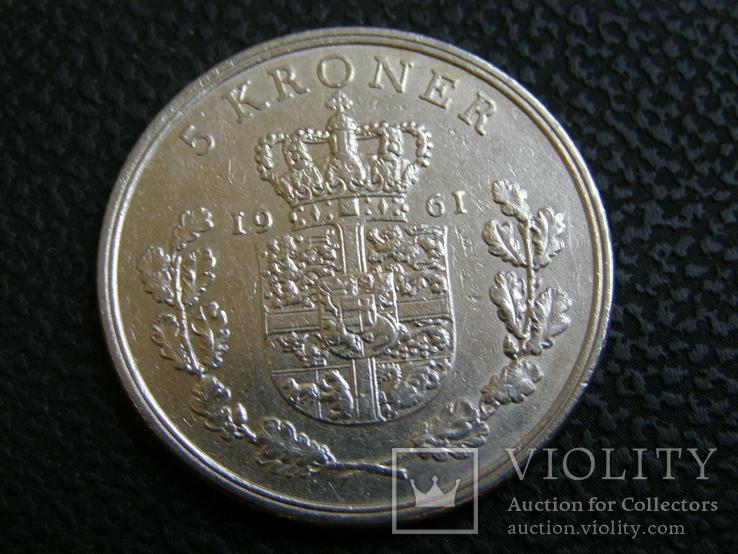 5 кроны Дания 1961, фото №2