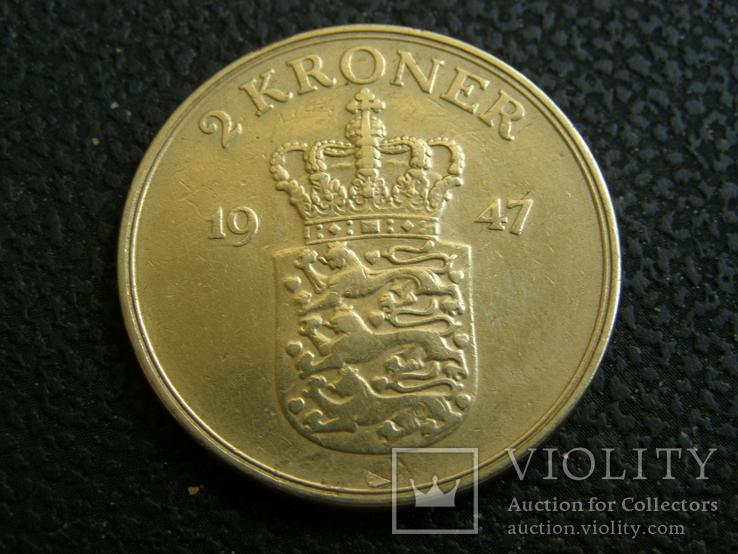 2 кроны Дания 1947, фото №2