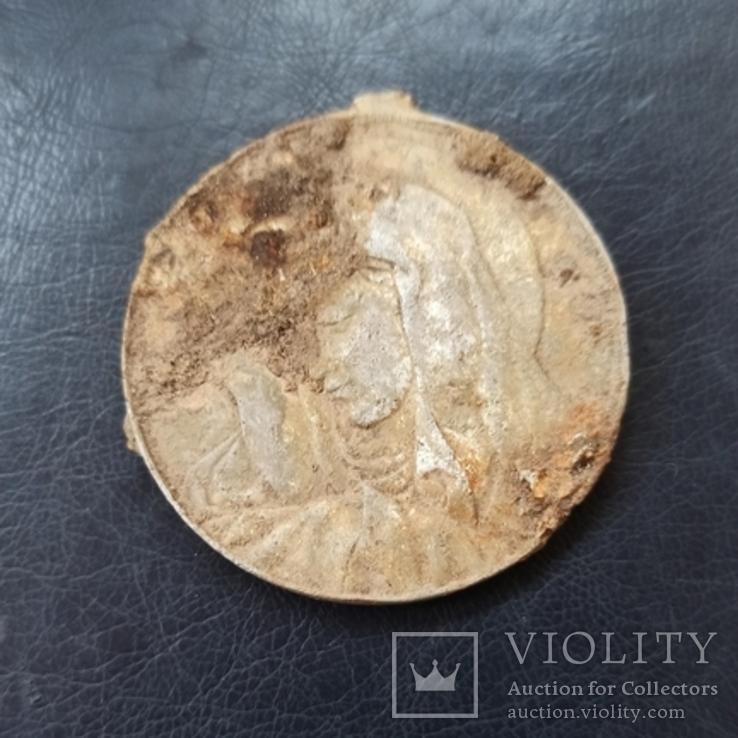 Медаль религиозная 4,5 см  Польша, фото №2