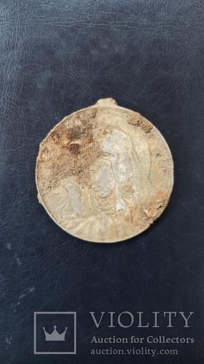Медаль религиозная 4,5 см  Польша, фото №3