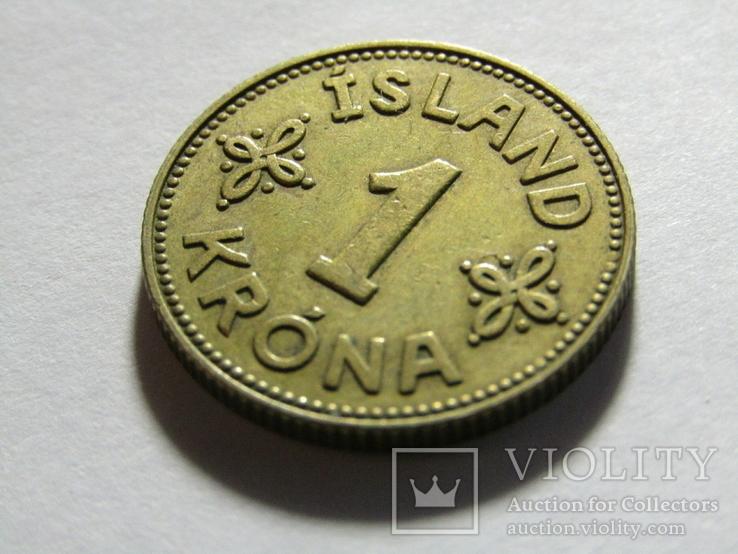1 крона 1940 Исландия, фото №3