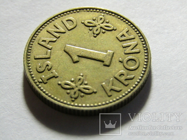 1 крона 1940 Исландия, фото №4