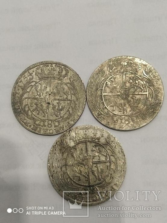 Орт (18 грошей) 1754 Август 3 + ПОДАРОК, фото №3
