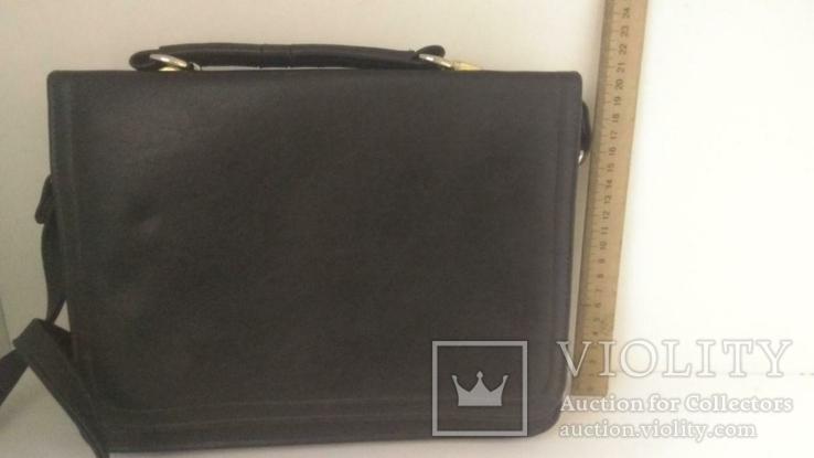 Сумка черная офисная (портфель), фото №3