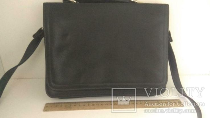 Сумка черная офисная (портфель), фото №5