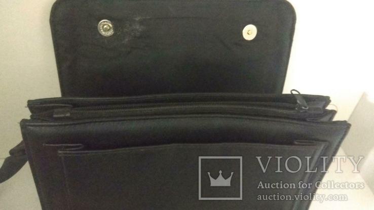 Сумка черная офисная (портфель), фото №7