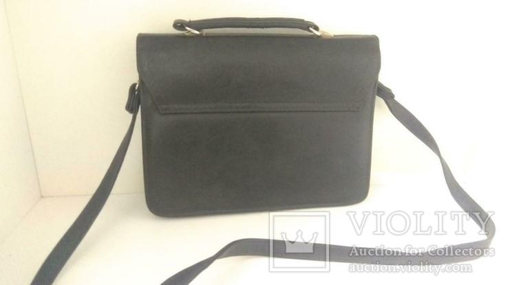Сумка черная офисная (портфель), фото №9