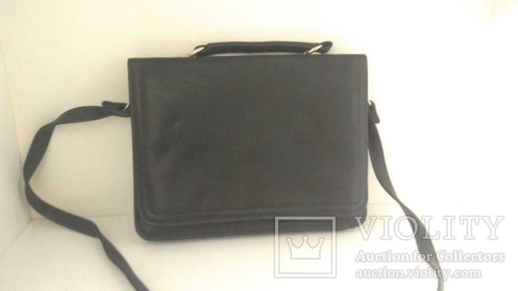 Сумка черная офисная (портфель), фото №2
