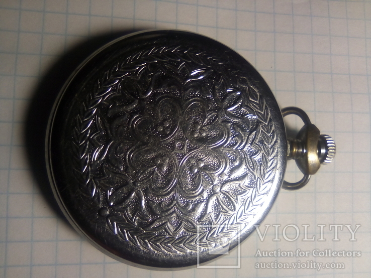 Карманные часы молния желтый циферблат, фото №5