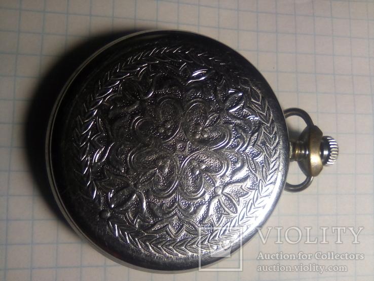 Карманные часы молния желтый циферблат, фото №6
