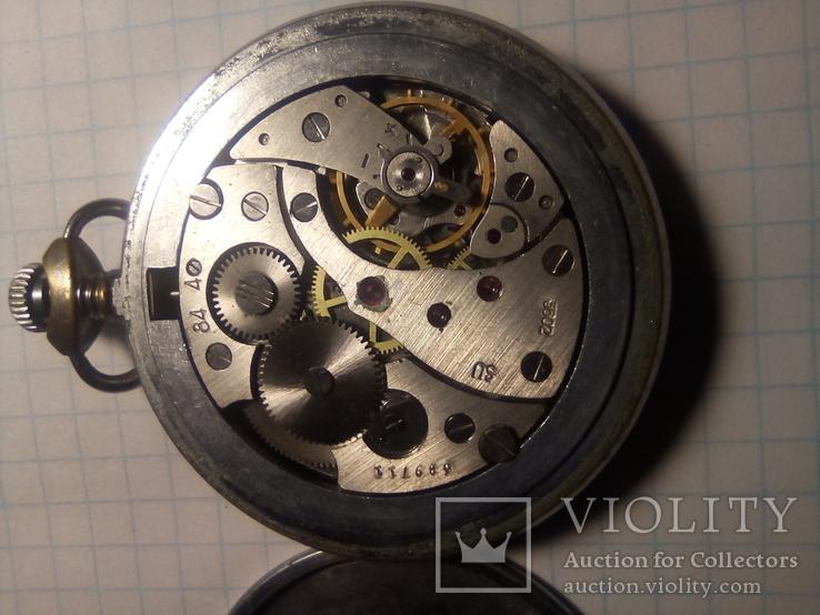 Карманные часы молния желтый циферблат, фото №7