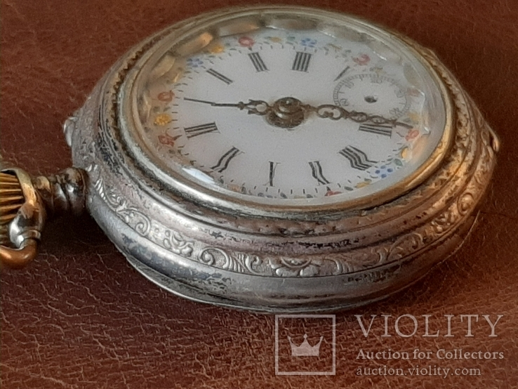 Часы карманные серебро на ходу, фото №4