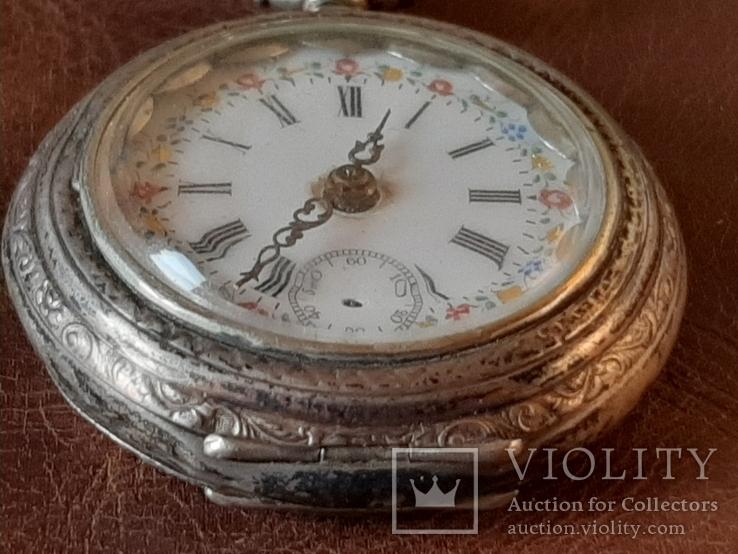 Часы карманные серебро на ходу, фото №5