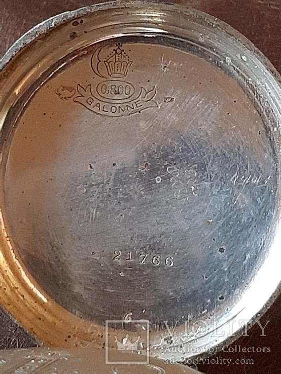 Часы карманные серебро на ходу, фото №9