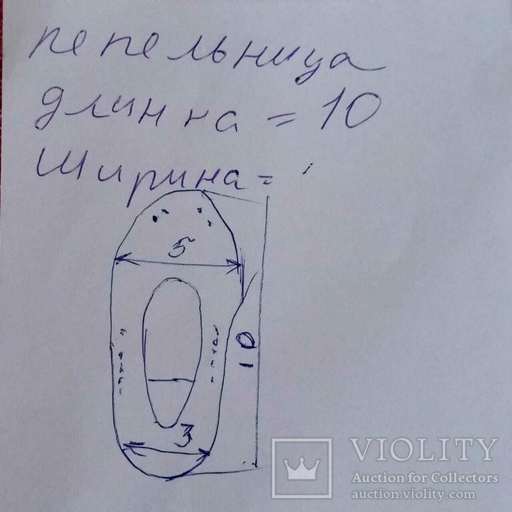 Мини пепельница Туфелька, фото №12