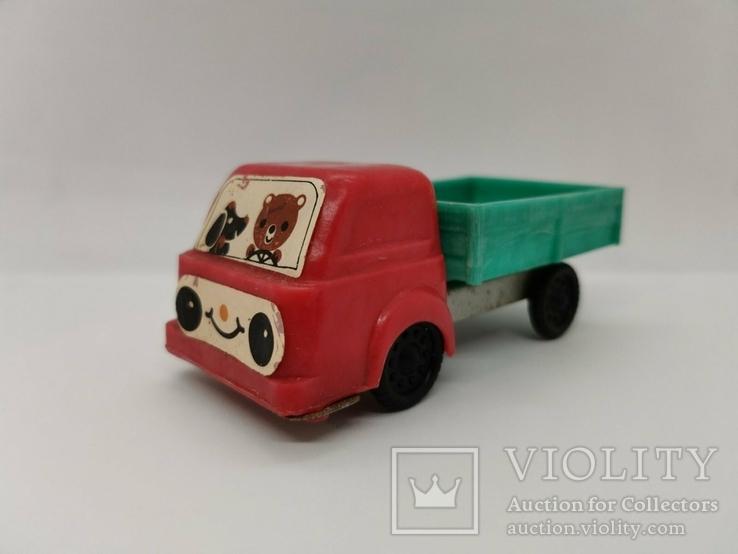 Машинка грузовик СССР ОТК металл пластмасса 13 см. грузовая машина, фото №2
