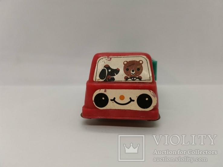 Машинка грузовик СССР ОТК металл пластмасса 13 см. грузовая машина, фото №7