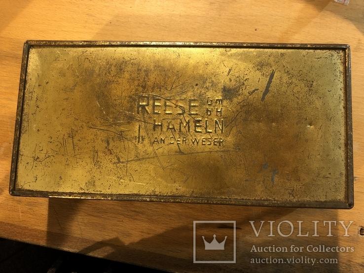 Большая жестяная коробка Риз Хамельн. Германия, Бюкебург., фото №6