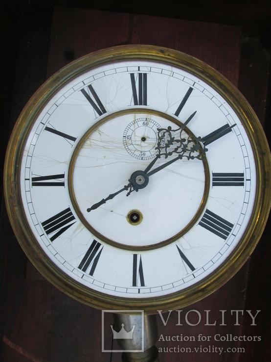 Часы настенные большие LENZKIRCH 1875 г., фото №8