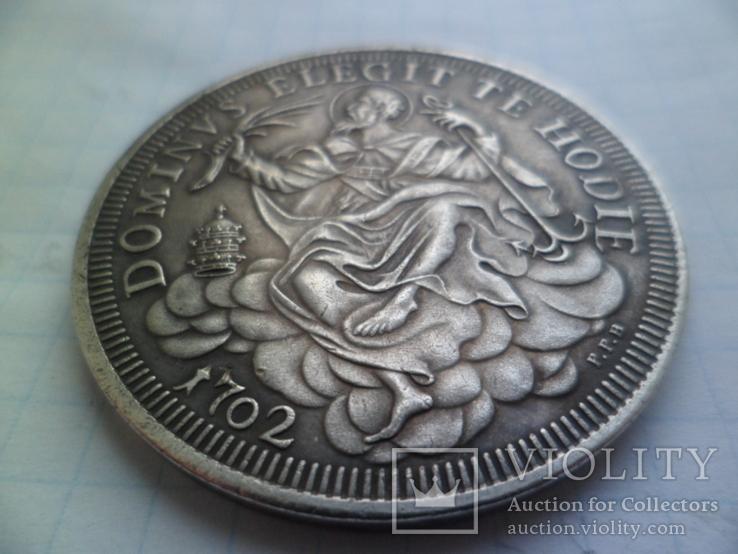 1 талер 1702 год папа Климентий ХІ Ватикан (Средневеко́вье) копия, фото №5