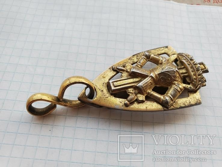 Элемент масонского ремня с подвесом ременной зацеп, фото №3