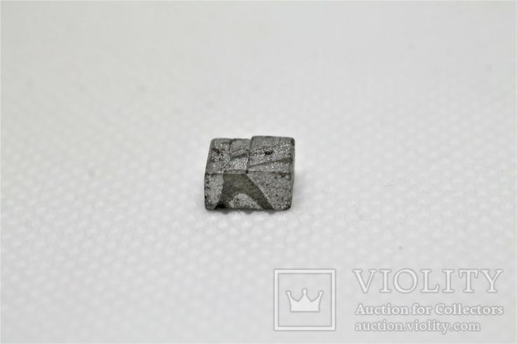 Заготовка-вставка з метеорита Seymchan, 1,44 г, із сертифікатом автентичності, фото №5
