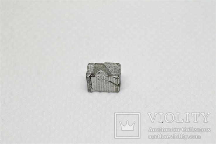 Заготовка-вставка з метеорита Seymchan, 1,44 г, із сертифікатом автентичності, фото №6