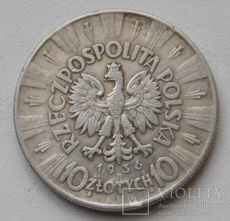 10 злот пилсудский 1936, фото №4