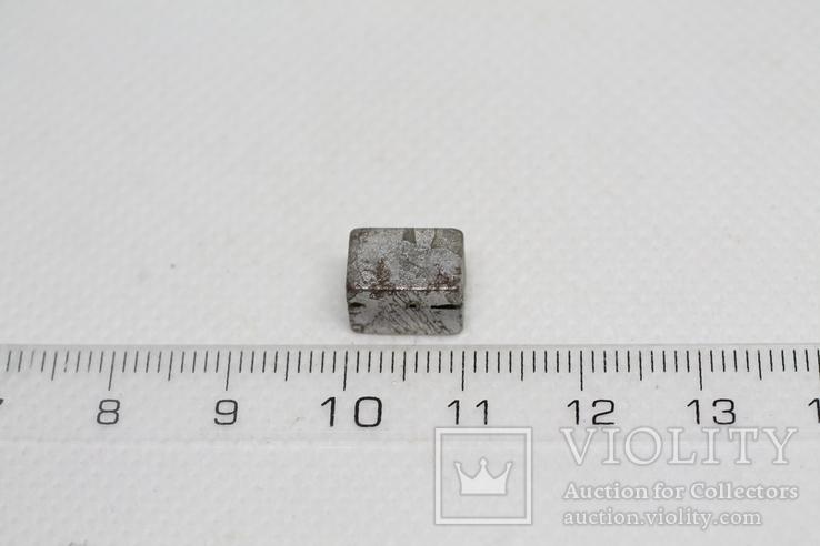 Заготовка-вставка з метеорита Seymchan, 3,37 г, із сертифікатом автентичності, фото №4
