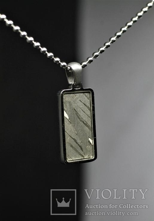 Кулон із залізо-кам'яним метеоритом Seymchan, із сертифікатом автентичності, фото №4