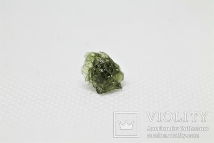 Імпактне тіло, тектит Moldavite, 0,4 грам із сертифікатом автентичності, фото №5